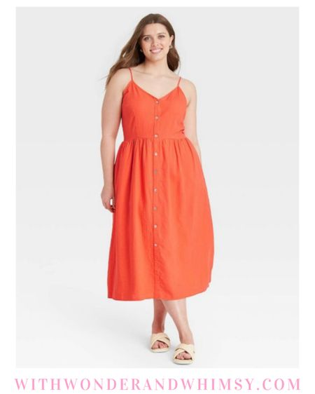 $28 Target dress available in multiple colors in straight and plus sizes 🍊🍊  http://liketk.it/3g6Ab #liketkit @liketoknow.it #LTKcurves #LTKunder50 #LTKunder100