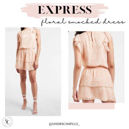 ✨Sale Alert✨ This cute floral smocked dress and others are now on sale at Express. Still plenty of summer time to enjoy them too!   #summeroutfit #vacationoutfit #ExpressJeamssale    #LTKSeasonal #LTKsalealert #LTKitbag #LTKunder50 #LTKtravel #LTKunder100