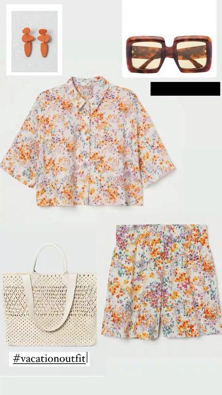 Vacation outfit inspo 2 piece short set #plussize #LTKday  #LTKunder50 #LTKsalealert #LTKcurves