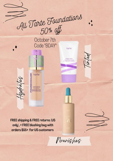 Tarte foundation 50% off  #LTKsalealert #LTKbeauty #LTKHoliday