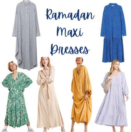 Beautiful maxi dresses perfect for Ramadan season #ramadanfashion #maxidresses #springfashion  #LTKstyletip #LTKSeasonal #LTKsalealert