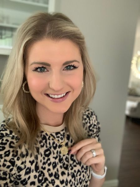 Loving these new Kendra Scott hoop earrings and my new Amazon Fashion Leopard Print top and coin necklace! http://liketk.it/2Efls #liketkit @liketoknow.it