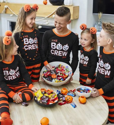 Saw these fun pajamas. I thought they're adorable and perfect for the holiday. Family pajamas. Available in all sizes From baby to adult! Halloween. Boo. Glow in the dark.  Trick or treat. Fall outfit.  #LTKSeasonal #LTKfamily #LTKkids