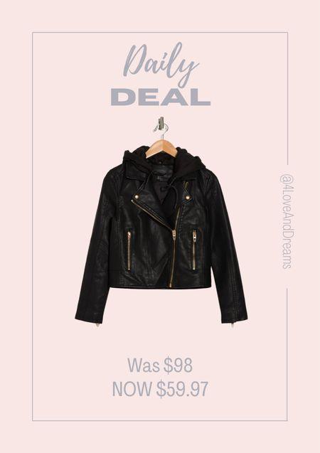 Moto jacket. Faux leather jacket.  #LTKsalealert #LTKstyletip #LTKHoliday