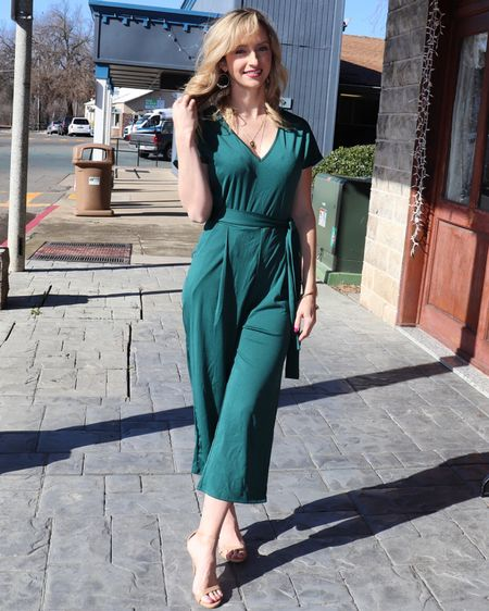 Linked this cute green jumpsuit and shoes! Perfect for St. Patty's Day coming up! http://liketk.it/39cWp #liketkit @liketoknow.it #LTKunder50 #LTKworkwear #LTKstyletip @liketoknow.it.brasil @liketoknow.it.family @liketoknow.it.europe @liketoknow.it.home You can instantly shop my looks by following me on the LIKEtoKNOW.it shopping app