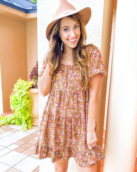 Fall dress  Affordable fall dresses // short fall dress // short sleeve fall dress // floral print dress // affordable fashion // affordable style // affordable clothes // target style // target finds // target fashion finds // target dresses // target fall clothes // target fall dress // fall style // fall fashion // short sleeve dress // puffy sleeves // puffy sleeve dress   http://liketk.it/2VHBs   #liketkit @liketoknow.it #LTKstyletip #LTKunder50 #ltkfall