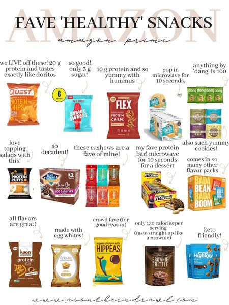 Healthy snack finds from Amazon finds   #LTKfit #LTKfamily