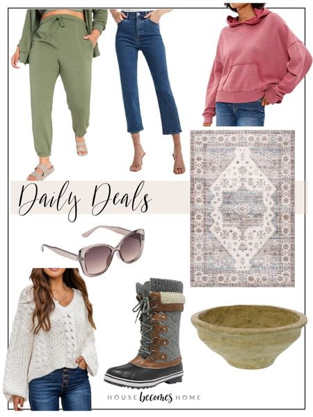 Daily Deals!!!  Home decor, ootd, sweaters, fall outfit, jeans, joggers, rugs, Old Navy, Pink Lily, Express, American Eagle, sales, deals   #LTKstyletip #LTKhome #LTKsalealert