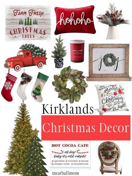 Christmas decorations from Kirklands                     #ltkholidaystyle #stayhomewithltk #ltkunder100  #ltkfamily Christmas, Christmas decor, Kirklands, holiday stockings, trees, candles, Christmas sign   #LTKunder50 #LTKFall #LTKhome http://liketk.it/2Zq3L #liketkit @liketoknow.it