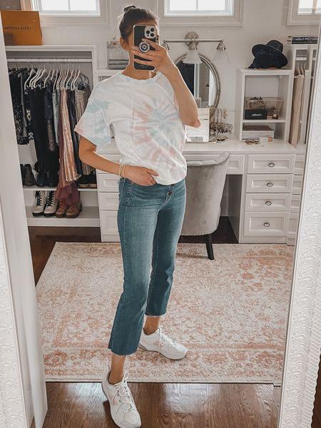 Tie dye tee and Demi jeans   #LTKunder50 #LTKstyletip #LTKunder100