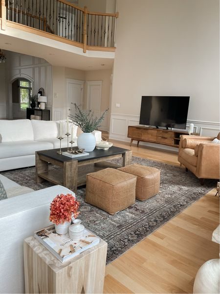 Family Room — sofas are from Article & cannot be linked. Rug is size 9' x 12'.   #LTKhome #LTKsalealert #LTKSeasonal