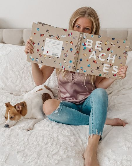 Quarantine life means even reading your coffee table books 🤣 A highlight of this Thursday.. my favorite high rise, STRETCH jeans are BOGO 50% off PLUS an additional 35% off in cart 💁🏼♀️Also obsessed with our new bedding 🥰 http://liketk.it/2NZBH @liketoknow.it #liketkit #LTKhome #LTKsalealert #StayHomeWithLTK