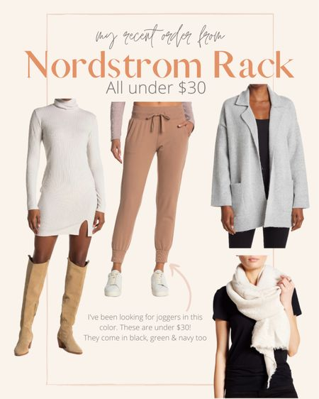 Nordstrom Rack fall finds. I'm excited for this cozy cardigan. I think it can definitely work for a casual workwear look. I've been looking for some tan joggers so I'll let you know how I like these    #LTKSeasonal #LTKsalealert #LTKHoliday