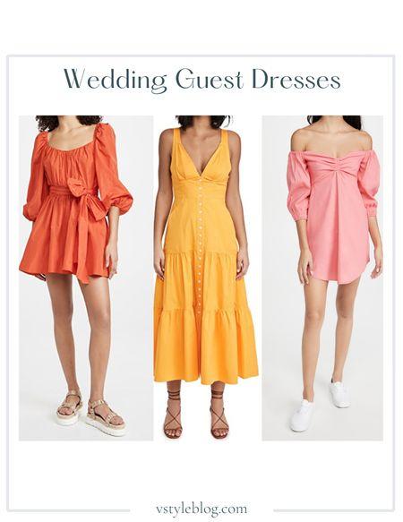 Wedding Guest Dresses, Maxi Dress, Summer Dress, Mini Dress  Cinq a Sept Delilah Dress ($395), A.L.C. Jordyn Dress (was $495, now $297), A.L.C. Mila Dress (was $495, now $346.50)  #LTKwedding #LTKfit #LTKsalealert