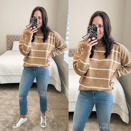 Comfy tunic sweater with jeans -  Sweater - TTS Jeans - TTs   #LTKunder50 #LTKSeasonal #LTKshoecrush