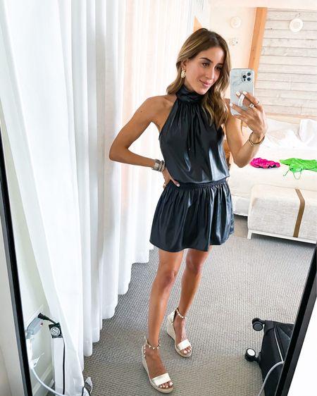 Black faux leather dress size Xs http://liketk.it/3htZU #liketkit @liketoknow.it #LTKunder100 #LTKunder50 #LTKsalealert