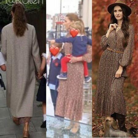 Kate wearing Zara midi dress #fall   #LTKstyletip #LTKeurope