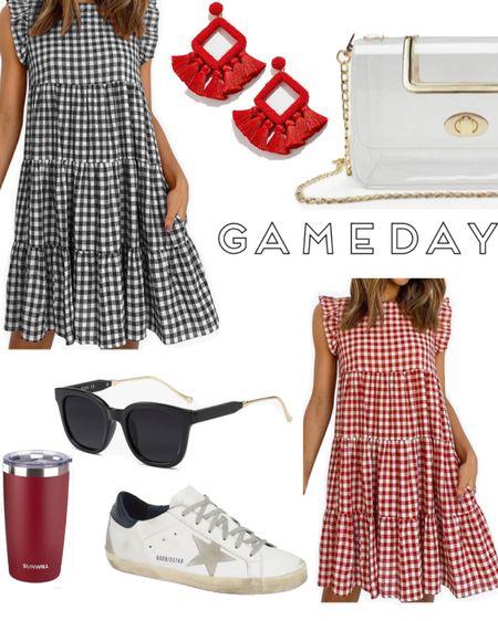 http://liketk.it/3hYCq #liketkit @liketoknow.it  #gameday #gamedaystyle #gingham #sundress #uga #redandblack