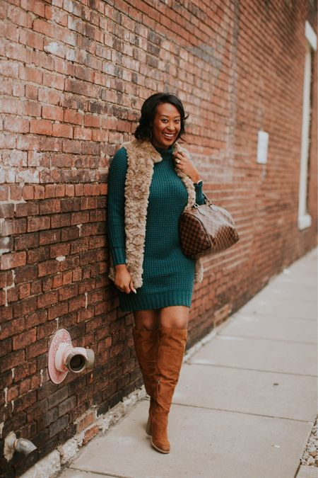 http://liketk.it/2zfYu When it's cold the perfect sweater dress, a faux fur and otk boots are always on my list. This look is on the blog (via link in profile) and this #sweaterdress is on sale for $27 #LTKsalealert #LTKunder50  . . Shop my daily looks by following me on the LIKEtoKNOW.it app #liketkit @liketoknow.it  . .  #LTKbeauty #LTKcurves #LTKitbag #LTKstyletip #LTKshoecrush