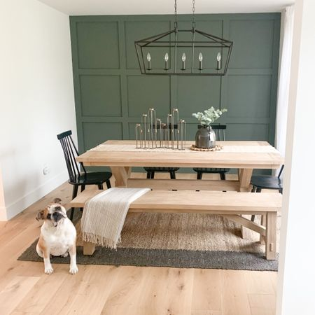 H O M E // We love our dining room but truth be told we still haven't eaten a meal in here 😂 I insisted that we order our dining table before we moved in and I've sat at it exactly 0 times 🤦🏻♀️ We eat at our kitchen island every night ➡️ Swipe right to see 🍽 Are you team dining room or kitchen for dinner? Let me know! 👇🏼 📲 You can instantly shop my looks by following me on the LIKEtoKNOW.it shopping app @liketoknow.it #liketkit http://liketk.it/3dUhD #LTKhome