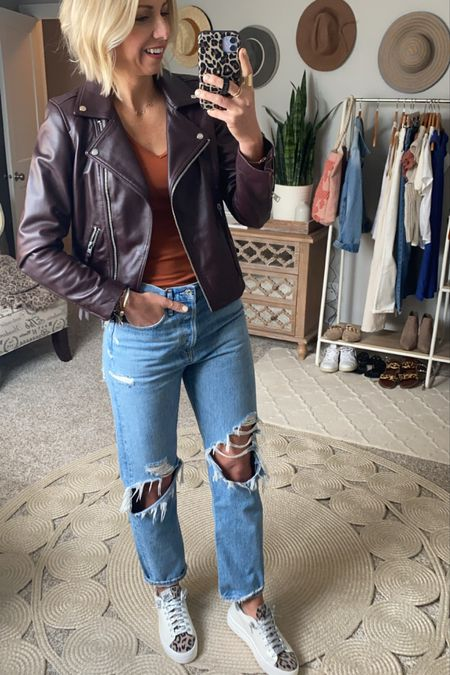 How to style these P448 sneakers this fall… -straight leg jeans -basic tee -add a leather moto jacket to take your look up a notch!   These sneakers run true to size!  #LTKsalealert #LTKstyletip #LTKshoecrush