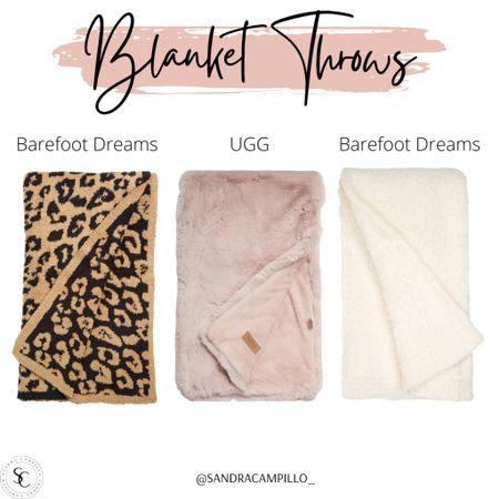 Cute blanket throws from Barefoot Dreams and UGG.   #Nordstrom #Nordstromsale #BarefootDreams #UGG #blankets #pillow #blanketthrows #throwbkankets #throws  #LTKunder100 #LTKsalealert #LTKhome