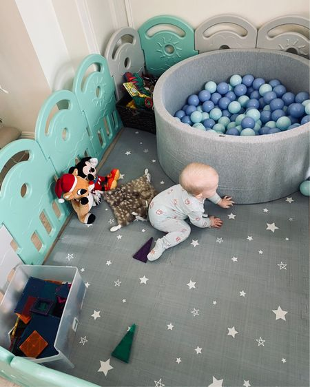 He loves playing here and it gives me some free time. Babys favorite things. Ballpit, magnatiles, play mat, baby gate. http://liketk.it/34iv8 #liketkit @liketoknow.it #LTKbaby #LTKfamily #LTKkids @liketoknow.it.family Download the LIKEtoKNOW.it shopping app to shop this pic via screenshot