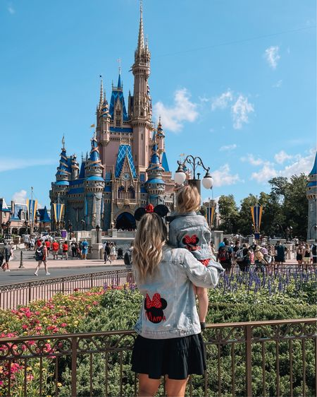 My Disney outfits! I had these matching denim jackets custom made- Paired with the perfect spring dress for me! http://liketk.it/3eiV0 #liketkit @liketoknow.it #LTKbaby #LTKstyletip #LTKtravel  #LTKDay Disney Outfits