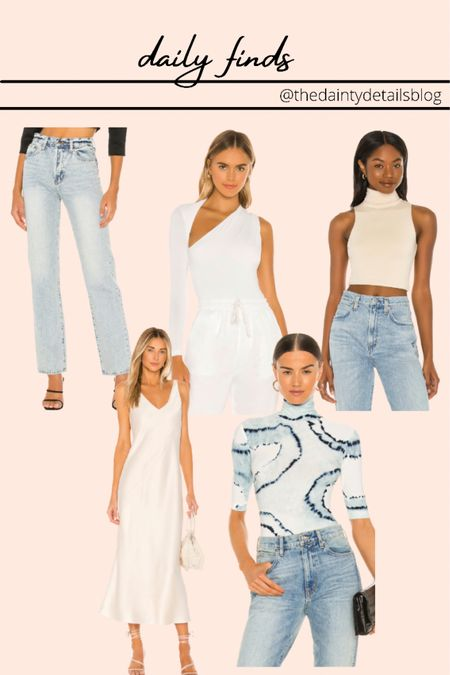 Daily finds: fall outfits, fall transition outfits, pre fall outfits, white dress, denim, bodysuit   #LTKunder100 #LTKSeasonal #LTKstyletip