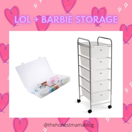Barbie & LOL storage solution, under $35 total! The best part - it's mobile on wheels so it can be pulled out and tucked away easily! http://liketk.it/34HFO @liketoknow.it #liketkit