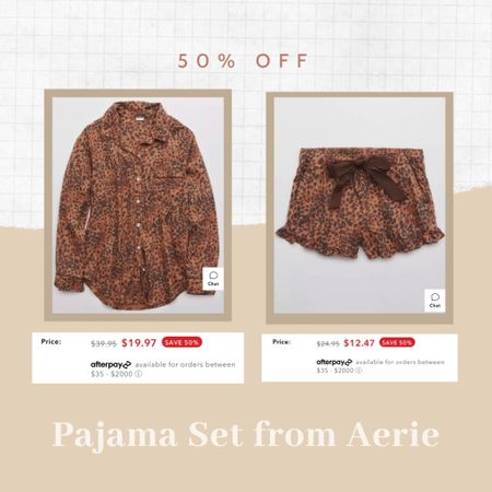 I just got this pajama set from Aerie for $30! 50% off http://liketk.it/32GSj #liketkit @liketoknow.it