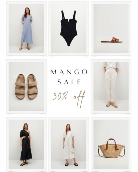 Mango is having a friends and family sale this weekend with 30% off select items! These are my favorite sandals, maxi dresses, bodysuits and straw totes included.  #LTKunder50 #LTKsalealert #LTKSeasonal