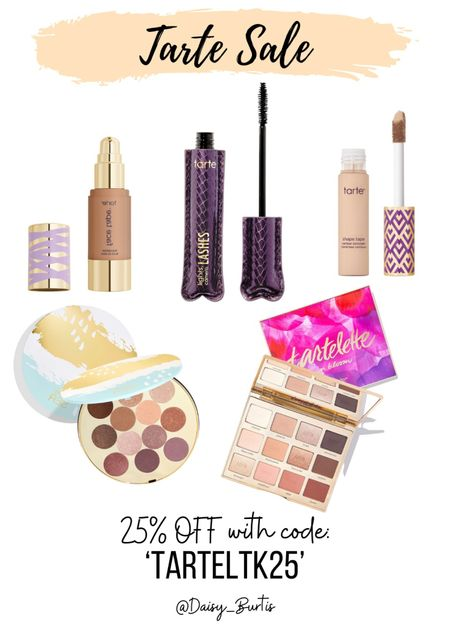 25% off Tarte!!   Code: TARTELTK25    #LTKbeauty #LTKSale #LTKunder50