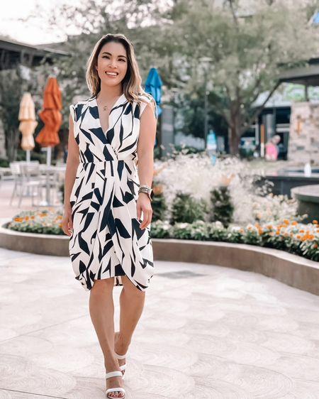 Work business casual dress outfit  Abstract print dress - XS / TTS   @liketoknow.it http://liketk.it/3hRgW #liketkit