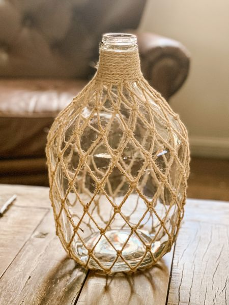 Rattan vase. Large glass vase with jute. Modern coastal home decor. Vase under $50. Home Depot finds. Trendy home decor. Summer decor. Coffee table decor. Rustic decor. Leather tufted armchair. Pottery Barn finds. ❤️ http://liketk.it/3gBw3 #liketkit @liketoknow.it #ltkseasonal #LTKunder50 #LTKhome @liketoknow.it.home Shop your screenshot of this pic with the LIKEtoKNOW.it shopping app Shop my daily looks by following me on the LIKEtoKNOW.it shopping app