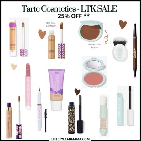 Tarte Sale happening only here on the app. So many great deals starting tomorrow 6/11. #tartecosmetics is doing 25% off on their site. Just click the link and it will bring you there. Use the code given tomorrow for the discount. Such a great time to stock up. http://liketk.it/3hiZq #liketkit @liketoknow.it #LTKDay #LTKsalealert #LTKbeauty #LTKUNDER50 #makeup