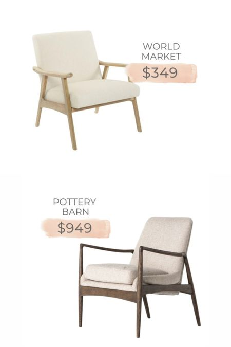 Pottery Barn accent chair dupe from World Market.   #LTKstyletip #LTKhome