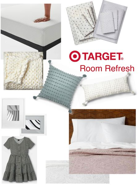 Seasonal bedroom refresh with lightweight quilt, fitted sheets set, cozy blanket, ans throw pillows. Love these memory foam mattresses for kids/teens rooms. http://liketk.it/3iGDj #liketkit @liketoknow.it #LTKhome #LTKunder100 kids room target finds  Target home @liketoknow.it.home