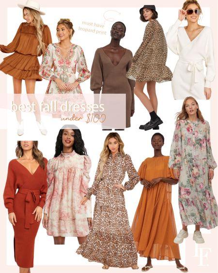 10 best fall dresses under $100, today on the blog! http://liketk.it/2VNTz #liketkit @liketoknow.it #LTKstyletip #LTKunder100 #LTKsalealert