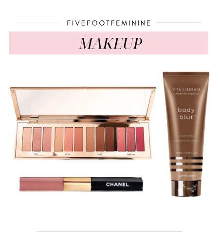 My favorite Charlotte tilbury eyeshadow, body makeup, and longwear lipstick! I wear shades 1) light rose and 2) daring pink in the Chanel lipstick!   #LTKSeasonal #LTKstyletip #LTKbeauty