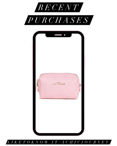 Pink Marc Jacobs cosmetics bag http://liketk.it/3iyKD #liketkit @liketoknow.it #LTKbeauty #LTKitbag #LTKunder100