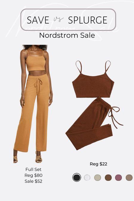 Nordstrom NSale favorite picks and dupes lounge knit rib pants crop top cardigan set http://liketk.it/3jRJt  #liketkit @liketoknow.it #LTKunder50 #LTKsalealert #LTKhome