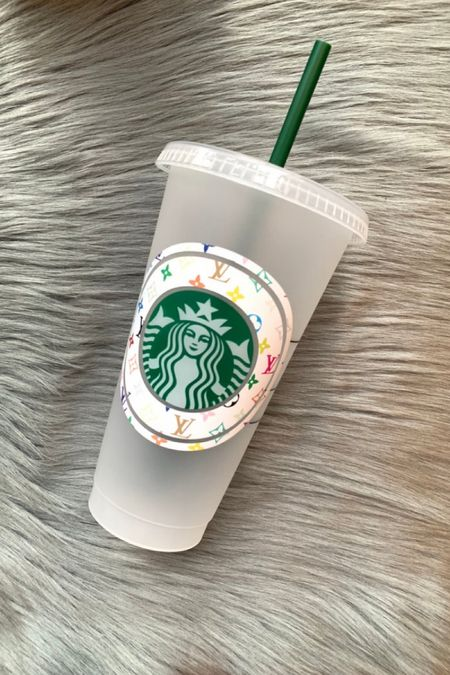 How cute is this designer inspired reusable Starbucks cup?! So fun and it's under $20!   #LTKfamily #LTKstyletip #LTKhome