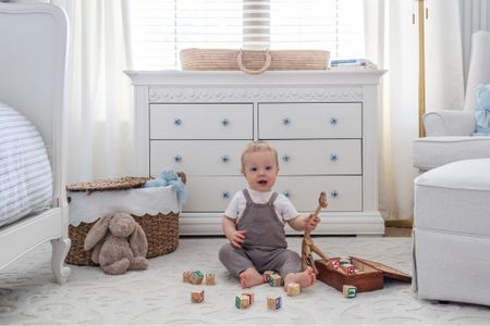 Nursery ideas, baby boy nursery, blue and white nursery. #liketkit @liketoknow.it http://liketk.it/3aZxw