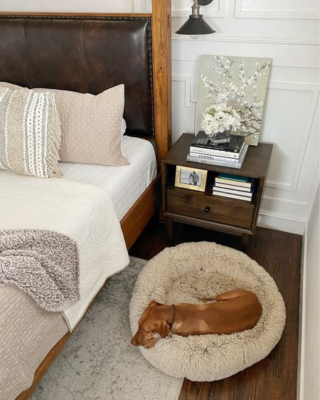 Working on a cozy bedroom refresh with new neutral bedding, side tables that we LOVE, and the coziest spot for the pups 🐶 #Ad And it's all from @walmart 🥰 #walmarthome   #LTKhome #LTKSeasonal #LTKGiftGuide