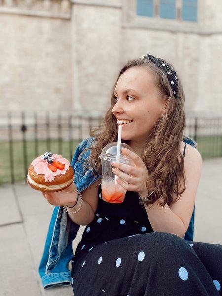 doughnuts & strawberry lemonade 🍓🍋   #LTKunder50 #LTKSpringSale #LTKbeauty