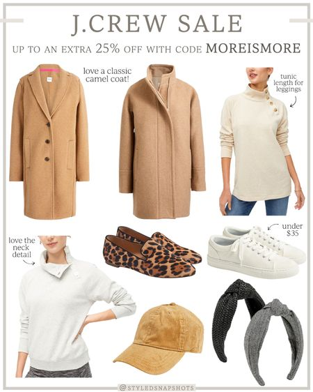 Rounded up a few J.Crew Factory sale finds for Fall! Save up to an extra 25% with code MOREISMORE. Love these knotted headbands and hat for under $25 // Fall coats // Fall shoes // Fall accessories // camel coat   #LTKSeasonal #LTKsalealert #LTKunder100