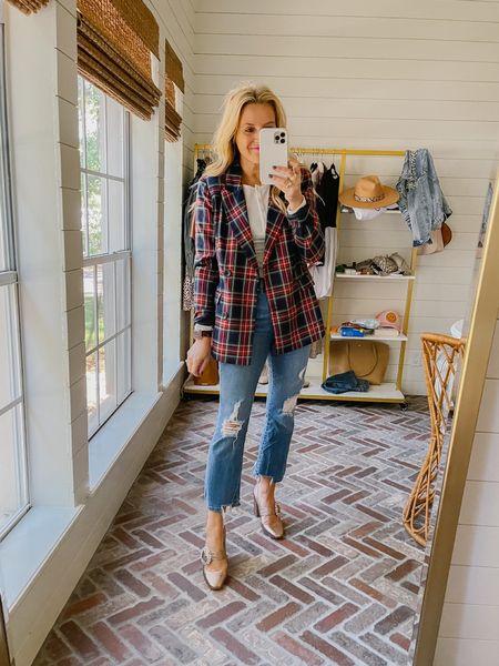 The perfect plaid blazer from Walmart   #LTKstyletip #LTKunder50 #LTKHoliday