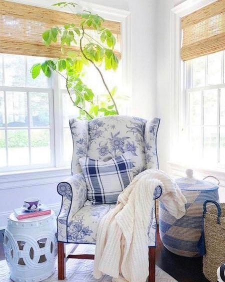 Family room furniture and decor- blue and white http://liketk.it/3gXpw #liketkit @liketoknow.it   #LTKhome #LTKstyletip #LTKunder100