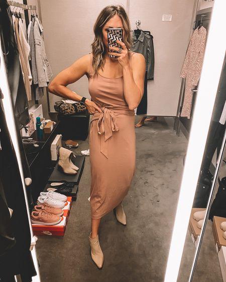 Love this pink dress and booties from the #nsale - still in stock!   #LTKsalealert #LTKworkwear #LTKstyletip